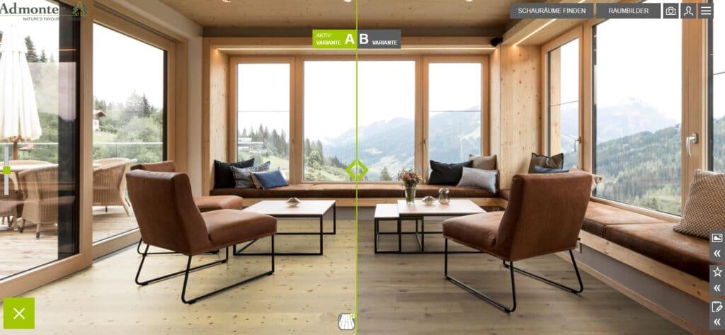 Installate diversi pavimenti solo con un click