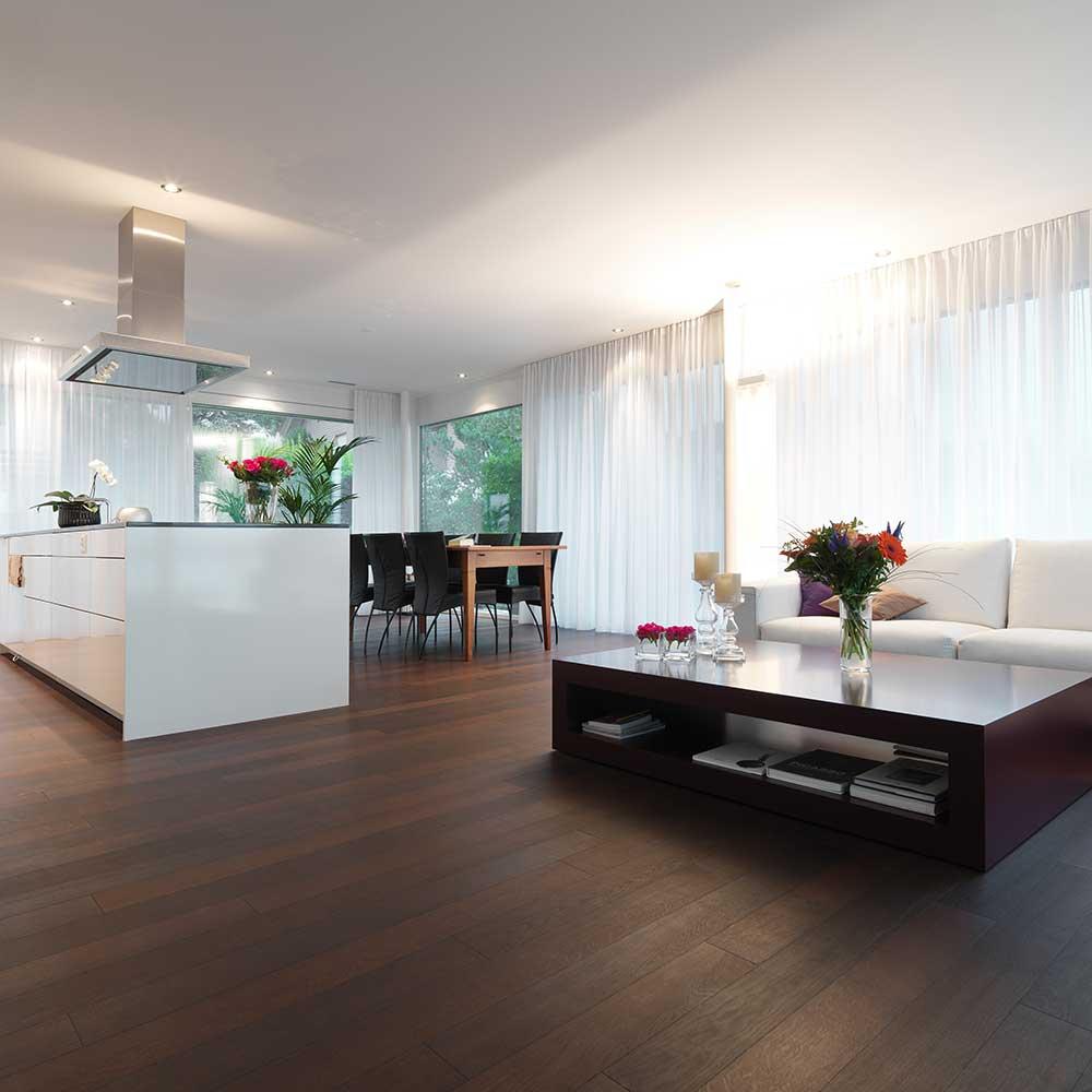 Eiche dunkel natur geoelt classic Wohnung Schweiz 1