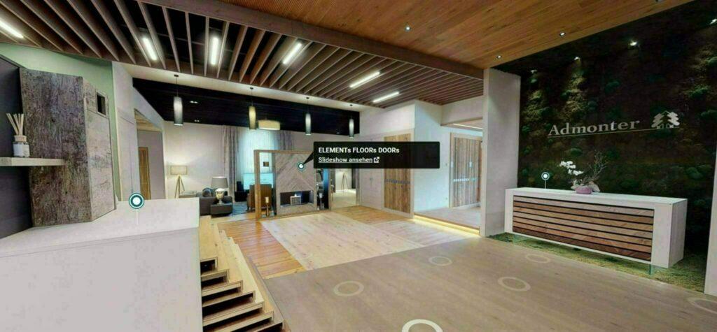 Tour virtuali 3D attraverso lo showroom, produzione e officina per apprendisti.
